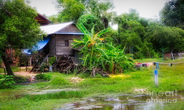 Wall Art - Photograph - Off The Beaten Track House Cambodia  by Chuck Kuhn
