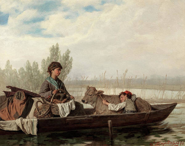 Wall Art - Painting - Off To Market  by Pietro Pajetta
