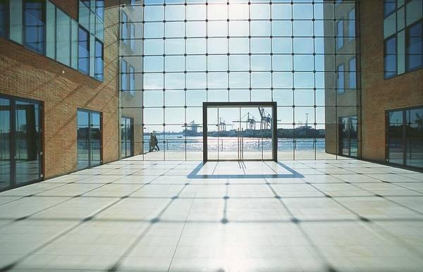 Office Building At Holzhafen 45, Grosse Art Print by Uwe Steffens