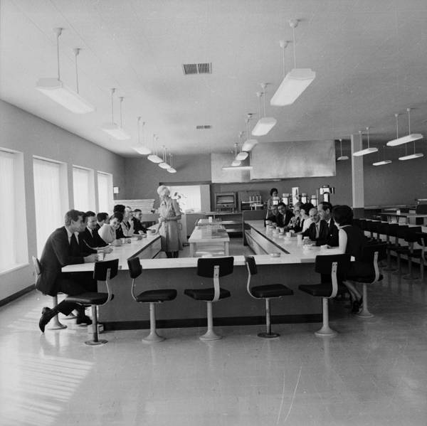Merchandise Photograph - Office Cafeteria by Evening Standard
