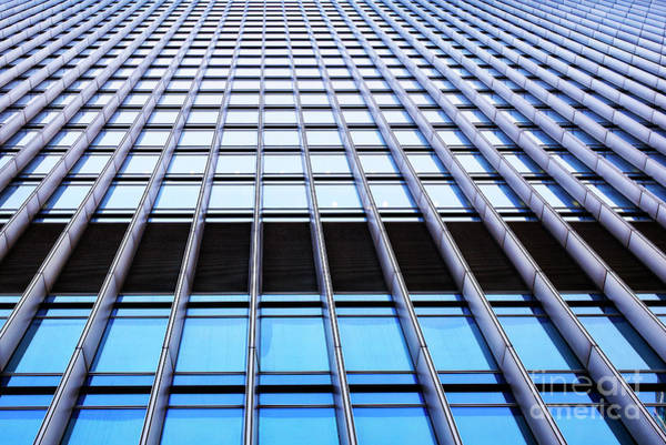 Window Pane Photograph - Office Lines by Tim Gainey