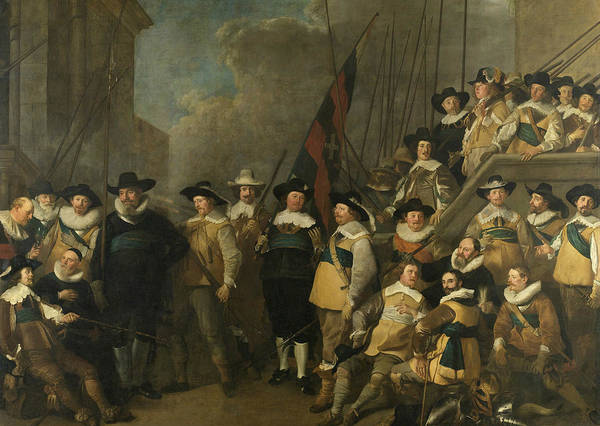 Wall Art - Painting - Officers And Other Shooters From Neighborhood V In Amsterdam by Jacob Adriaensz Backer