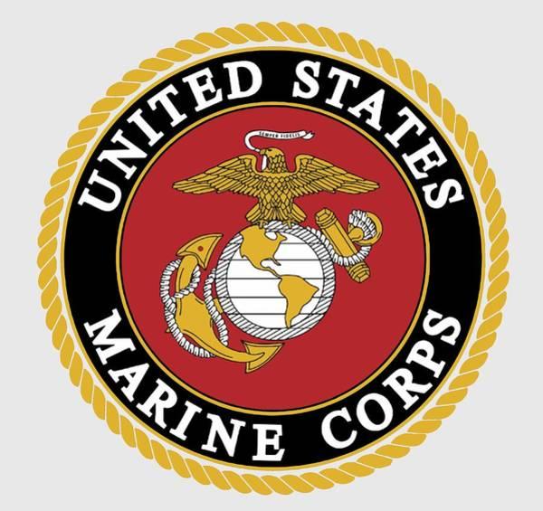 Wall Art - Digital Art - Official Marine Corp Logo - T-shirt by Daniel Hagerman