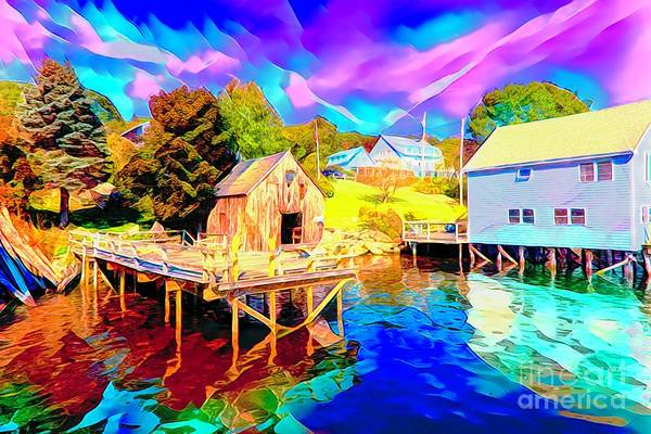 Wall Art - Painting - Offshore Cabin by Rick Bragan
