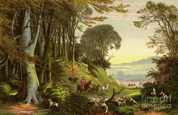 Wall Art - Drawing - Oft Listening How The Hounds And Horn Cheerly Rouse The Slumbering Morn by Alexander Francis Lydon