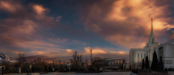 Photograph - Ogden Sunset At Lds Temple by Michael Ash