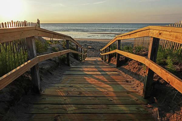 Wall Art - Photograph - Ogunquit Beach Footbridge At Sunrise Ogunquit Maine by Toby McGuire