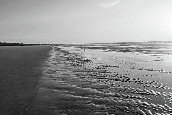 Photograph - Ogunquit Beach Sand Patterns Ogunquit Maine Sunrise Black And White by Toby McGuire