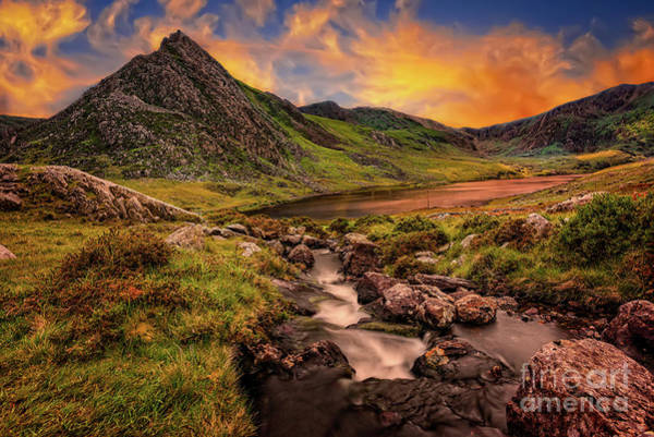 Wall Art - Photograph - Ogwen Lake And Tryfan Snowdonia  by Adrian Evans