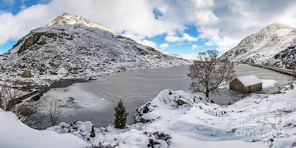 Wall Art - Photograph - Ogwen Lake Winter Snowdonia by Adrian Evans