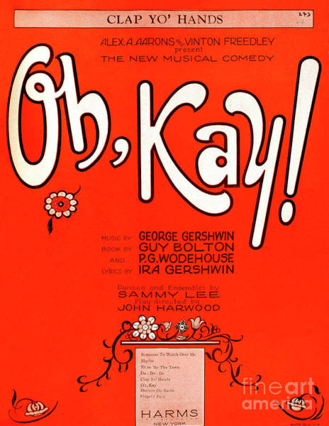 Wall Art - Drawing - Oh Kay By George Gershwin by English School