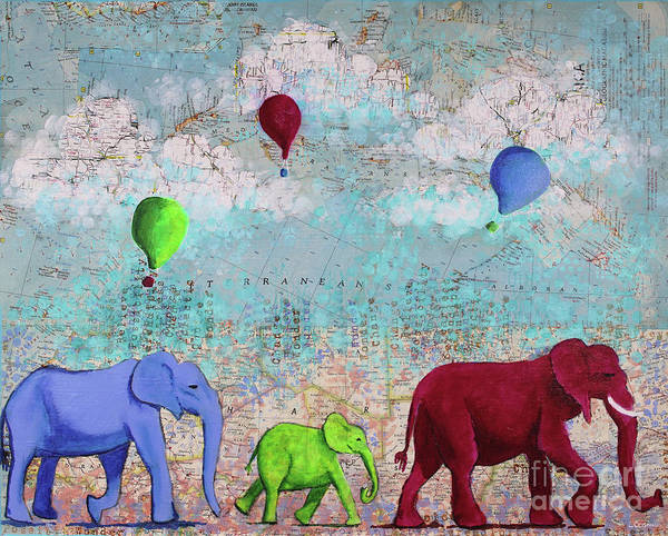 Mixed Media - Oh The Places You'll Go by Lisa Crisman
