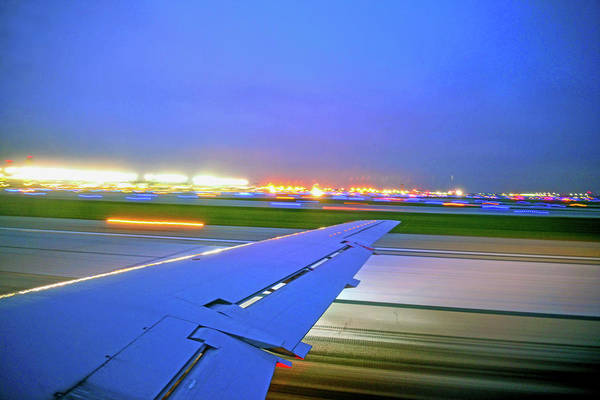 Photograph - O'hare Night Takeoff by Climate Change VI - Sales