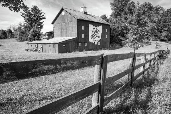 Photograph - Ohio Bicentennial Barn In Monochrome 1803 - 2003 by Gregory Ballos