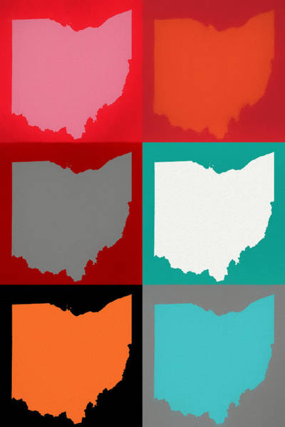 Wall Art - Mixed Media - Ohio Pop Art by Dan Sproul