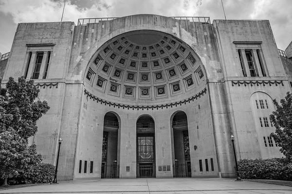 Wall Art - Photograph - Ohio State University Black And White 20 by John McGraw