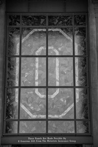 Wall Art - Photograph - Ohio State University Black And White The O by John McGraw