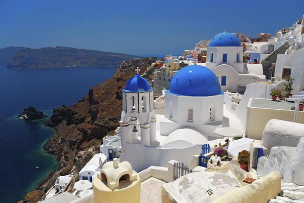 Ancient Greek Photograph - Oia - Santorini - Greece by Giuseppe Finocchiaro