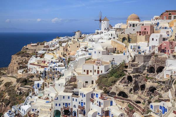 Photograph - Oia Village And Aegean Sea by Ed Norton