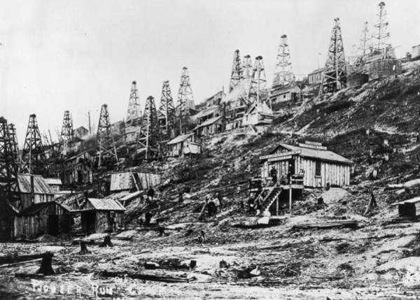 1850 Wall Art - Photograph - Oil Boom by Fotosearch