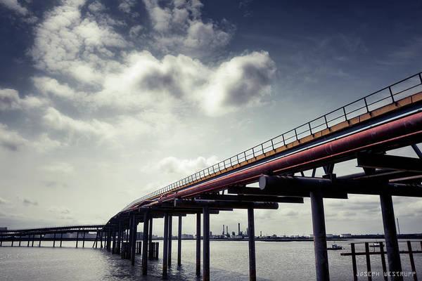 Oil Bridge Art Print