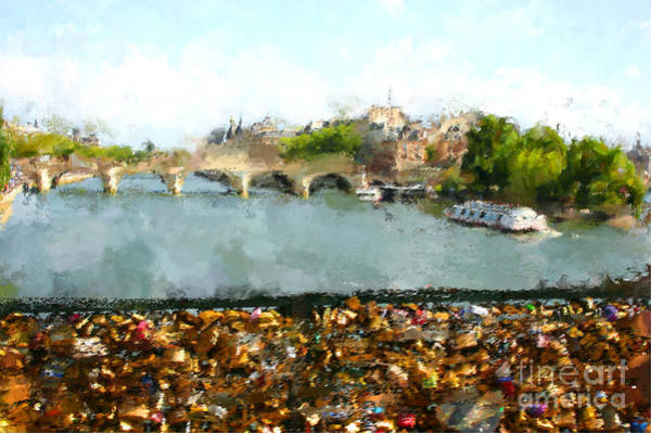 Wall Art - Digital Art - Oil Paint Paris Seine River by Trentemoller