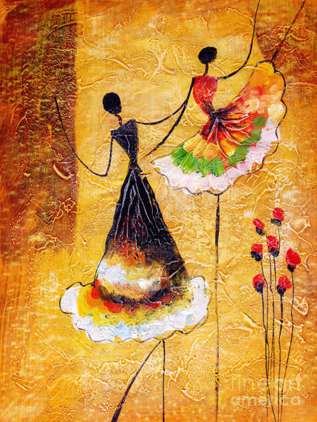 Wall Art - Digital Art - Oil Painting - Spanish Dance by Cyc
