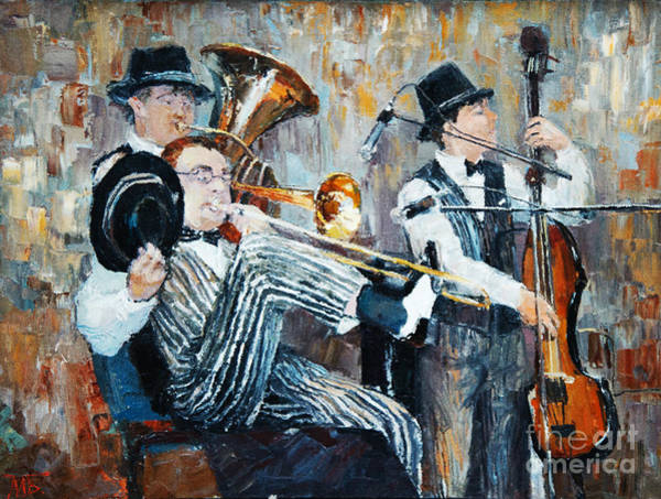 Wall Art - Digital Art - Oil Painting, The Orchestra Plays by Maria Bo