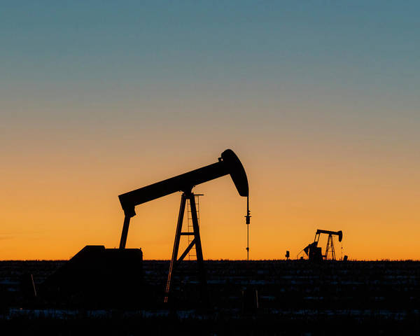 Photograph - Oil Pumps After Sunset 01 by Rob Graham