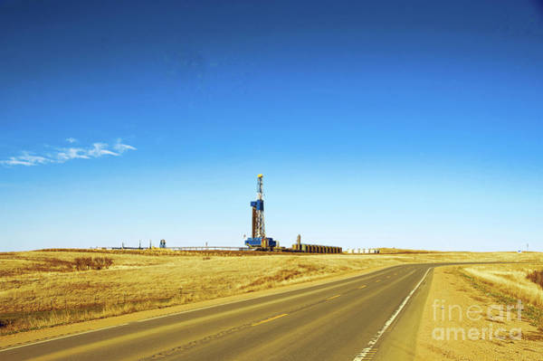 Wall Art - Photograph - Oil Rig Near Charlson North Dakota by Jeff Swan