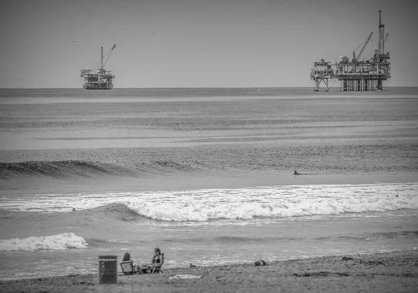 Wall Art - Photograph - Oil Rigs Huntington Beach California  by Chuck Kuhn