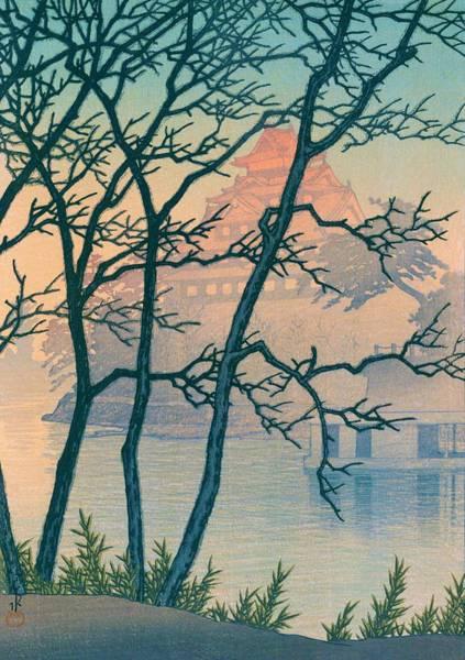Wall Art - Painting - Okayama Castle - Top Quality Image Edition by Kawase Hasui