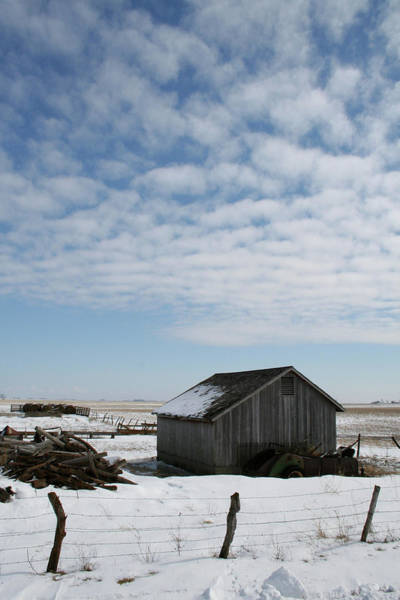 Photograph - O'keefe Winter Shed by Dylan Punke