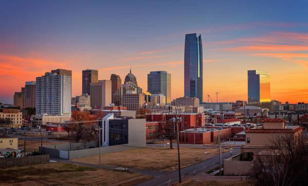 Wall Art - Photograph - Oklahoma City Skyline Sunset by Ricky Barnard