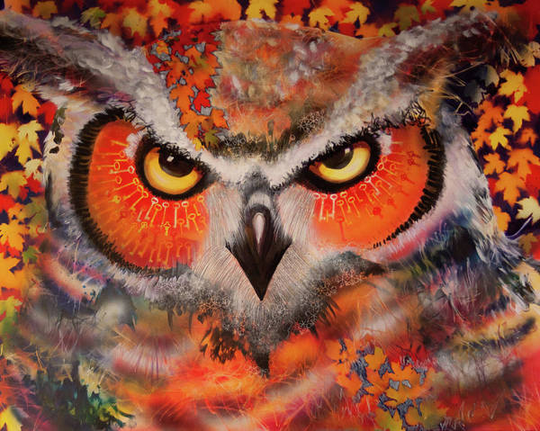 Painting - Ol Keys Owl by Laurel Bahe