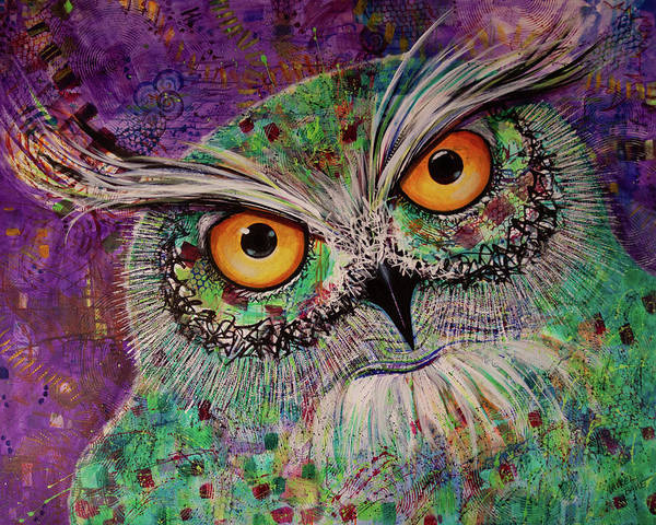 Painting - Ol Purple Thalo by Laurel Bahe