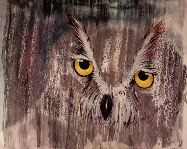 Painting - Ol Rainy Day Owl by Laurel Bahe