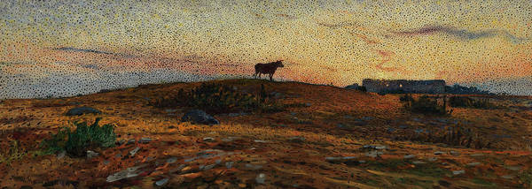 Wall Art - Painting - Oland Heath At Sunset by Nils Kreuger