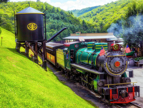 Wall Art - Photograph - Old 190 Baldwin Locomotive And Water Tank by Garry Gay