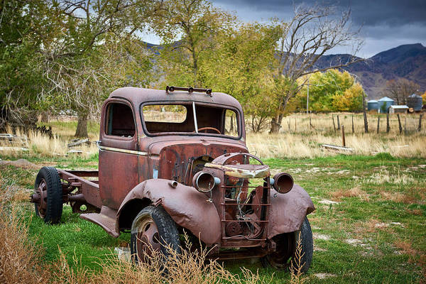 Wall Art - Photograph - Old Abandoned Chevy Truck by Paul Freidlund