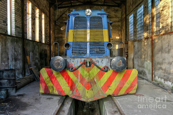 Wall Art - Photograph - Old Abandoned Diesel Locomotive by Michal Boubin