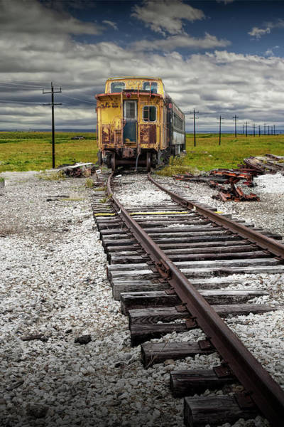 Photograph - Old Abandoned Train Caboose Sitting On Train Tracks. by Randall Nyhof