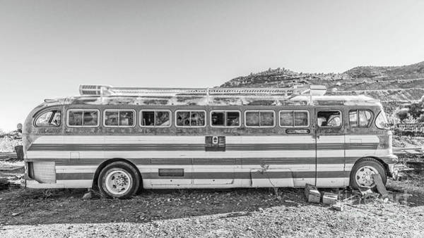 Wall Art - Photograph - Old Abandoned Vintage Bus Jerome Arizona by Edward Fielding