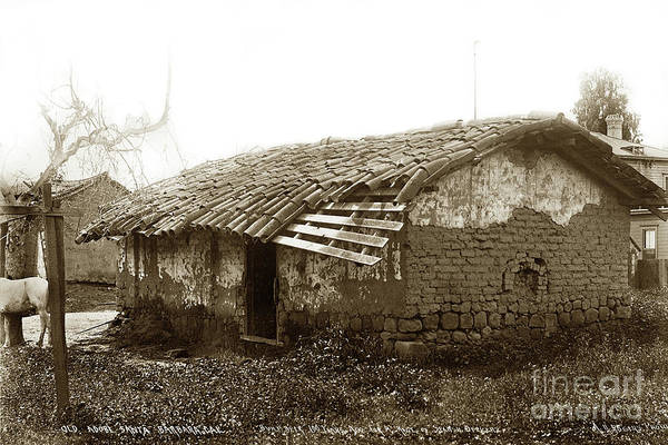 Photograph - Old Adobe Santa Barbara, Cal. Built Over 100 Years Ago For A Reg by California Views Archives Mr Pat Hathaway Archives