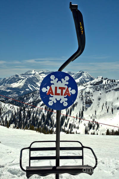 Wall Art - Photograph - Old Alta Lift Chair by Adam Jewell