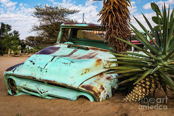 Photograph - Old And Abandoned Car 2 In Solitaire, Namibia by Lyl Dil Creations