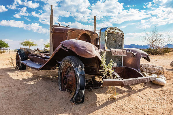 Photograph - Old And Abandoned Car 3 In Solitaire, Namibia by Lyl Dil Creations