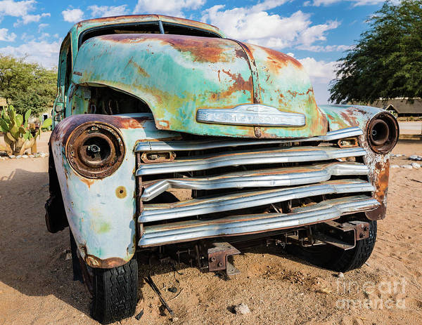Photograph - Old And Abandoned Car 4 In Solitaire, Namibia by Lyl Dil Creations