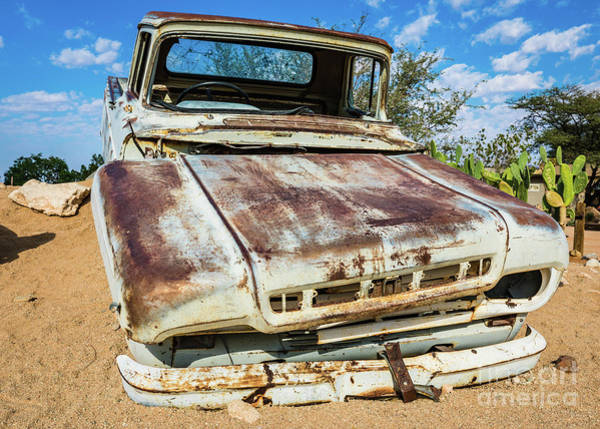 Photograph - Old And Abandoned Car 5 In Solitaire, Namibia by Lyl Dil Creations