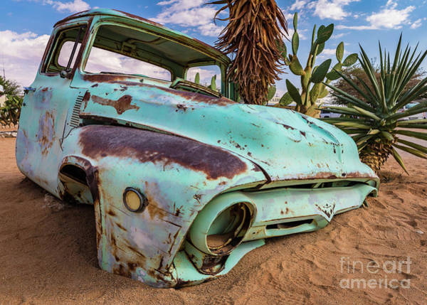 Photograph - Old And Abandoned Car 7 In Solitaire, Namibia by Lyl Dil Creations